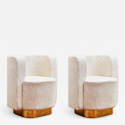 Studio Glustin Pair Of Armchairs by Studio Glustin