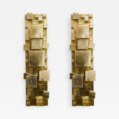 Studio Glustin Pair of Brass Sconces