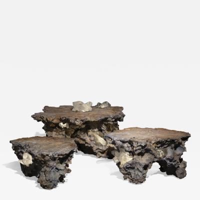 Studio Greytak Erosion Set of Three Nesting Tables
