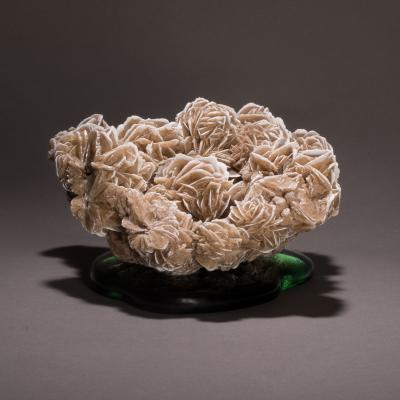 Studio Greytak Studio Greytak Desert Rose Gypsum on Cast Glass Desert Rose Green Cast Glass