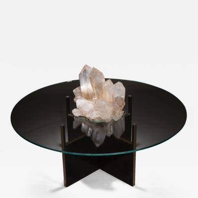 Studio Greytak Studio Greytak Iceberg Table 4 Himalayan Quartz Solid Bronze and Glass Top