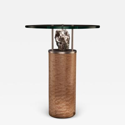 Studio Greytak Studio Greytak Peekaboo Table 6 Quartz Chalcedony Maple and Stainless Steel