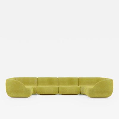 Studio SORS Canap U sofa in golden pulp chenille wool
