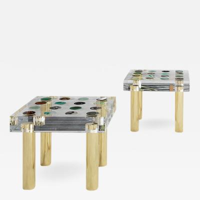 Studio Superego Pair of Tables Designed and Produced by Studio Superego