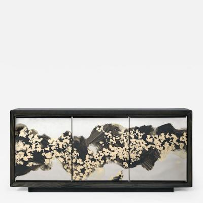 Studio Van den Akker The Faubourg Cabinet with Glass Doors by Artist Emma Peascod