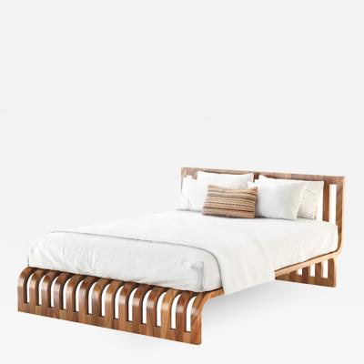 Studio Van den Akker The Finn Bed without Footboard by Studio Van den Akker