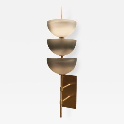 Studio Van den Akker The Small Gilles Wall Sconce with Glass by Seguso