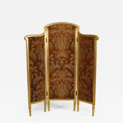 Sue et Mare French Art Deco Low 3 Fold Gilt Screen