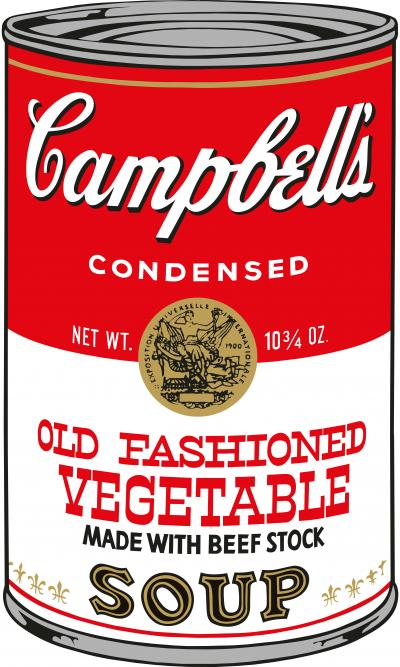 Sunday B Morning Soup Can Old Fashioned Vegetable