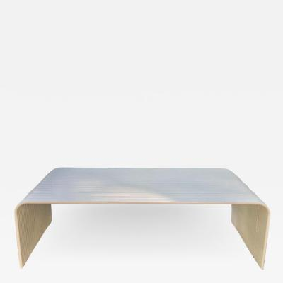 Superstudio Mid Century Modern White Enameled Aluminum Bench Attributed to Superstudio