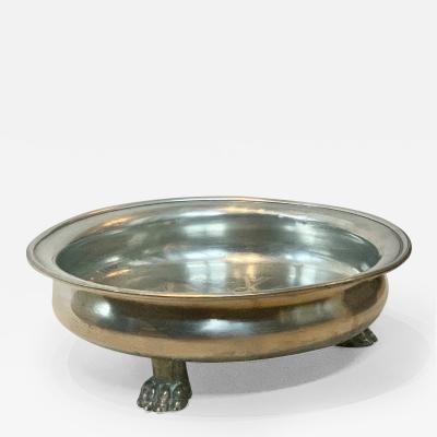 Svenskt Tenn Footed Bowl with Engraving in Pewter by Svenst Tenn