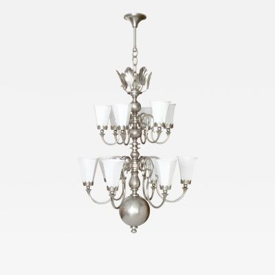 Svenskt Tenn LARGE SWEDISH ART DECO CHANDELIER WITH 12 ARMS by Svenskt Tenn