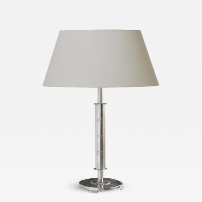 Svenskt Tenn Modern Classicism table lamp in polished pewter by Svenst Tenn