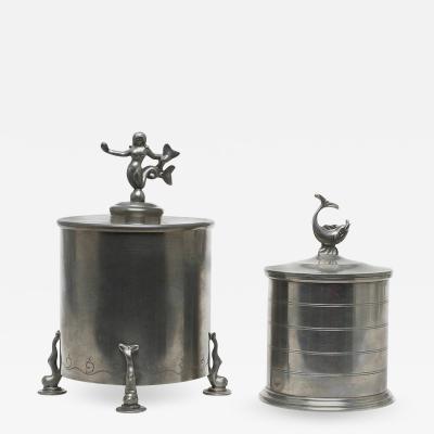 Svenskt Tenn Pair of Tobacco Jars by Svenskt Tenn