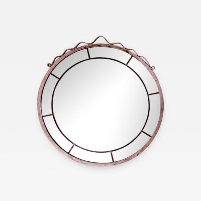 Svenskt Tenn Round Swedish Grace Hand Blown Mirror in the Style of Svenskt Tenn