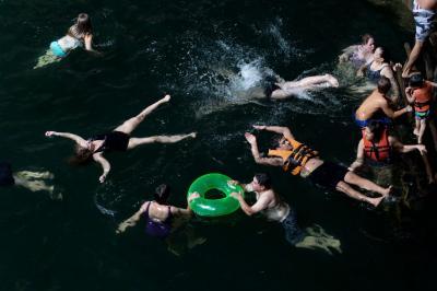 Swim The Water in Between 2291 by Francine Fleischer