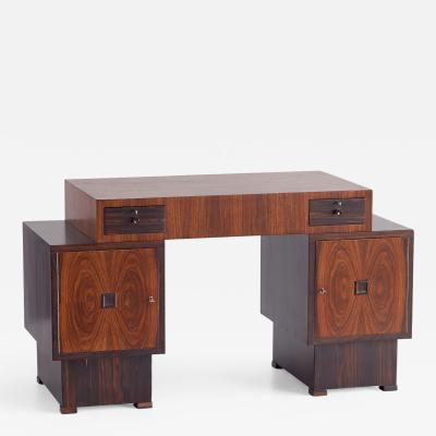 T Woonhuys Rosewood and Macassar Ebony Art Deco Desk by t Woonhuys Amsterdam 1925