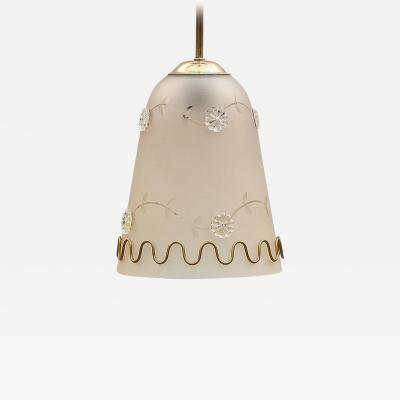 TR Co Pendant in Orrefors Style by T R Co