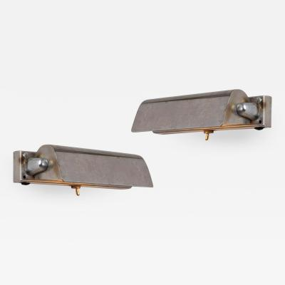 Taito Oy Pair of 1930s Finnish Minimalist Wall Lights Attributed to Paavo Tynell