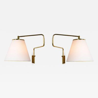 Taito Oy Pair of 1950s Paavo Tynell 9414 Wall Lights for Taito Oy