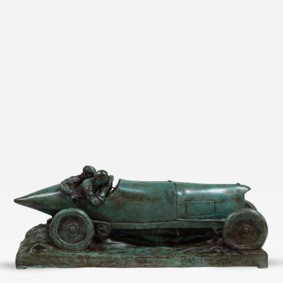 Talisman A Bronze Cast of a Mercedes Blitzen Benz by Talisman