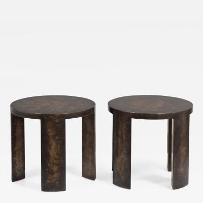 Talisman Bespoke The Circular Bronze Collection Side Tables by Talisman Bespoke