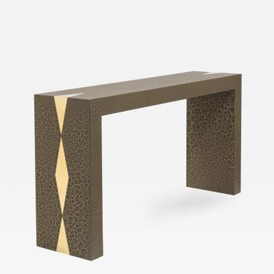 Talisman Bespoke The Crackle Console Table by Talisman Bespoke Bronze and Gold