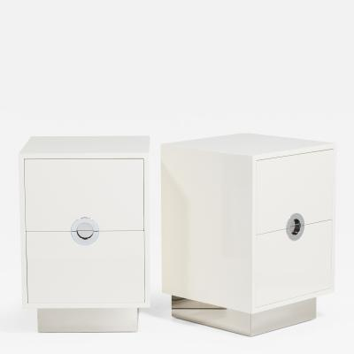 Talisman Bespoke The Lacquered Porthole Bedside Cabinets by Talisman Bespoke