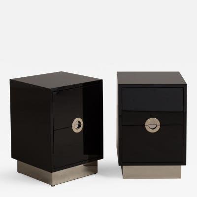 Talisman Bespoke The Lacquered Porthole Bedside Cabinets by Talisman Bespoke