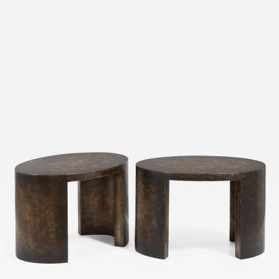 Talisman Bespoke The Oval Bronze Collection Side Tables by Talisman Bespoke