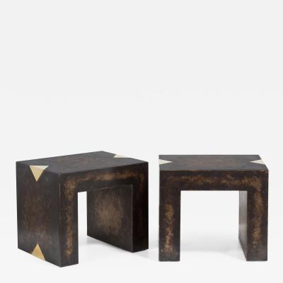 Talisman Bespoke The Rectangular Bronze Collection Brass Side Tables by Talisman Bespoke