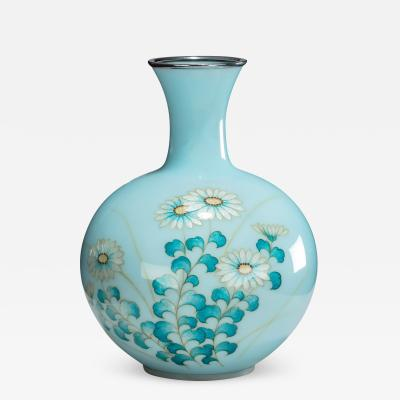 Tamura A Showa period gin bari cloisonn vase by Tamura
