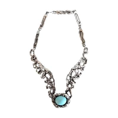 Tane Orfebres A Mexican Modernist Sterling Silver Necklace by Tane Orfebres