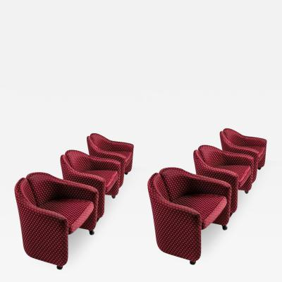 Tecno Milano Set of Six Chairs Model Ps142 by Eugenio Gerli for Tecno