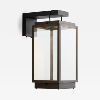 Tekna Tekna Blakes Table Lamp on Bracket in Dark Bronze Finish Rivuletta Clear Glass