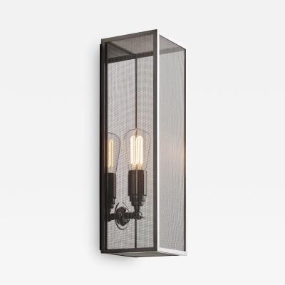 Tekna Tekna Musar 10 C Wall Light with Black Mirror Finish and Metal Mesh