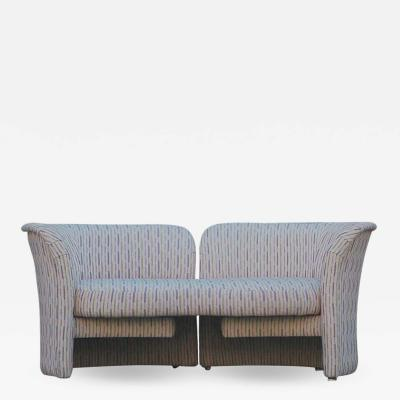 Thayer Coggin Mid Century Modern Curved Loveseat Sofa or Chaise Lounge by Randy Culler