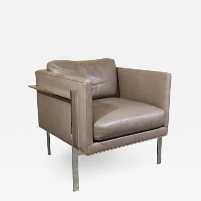 Thayer Coggin Milo Baughman Design for Thayer Coggins Leather Drop In Lounge Chair