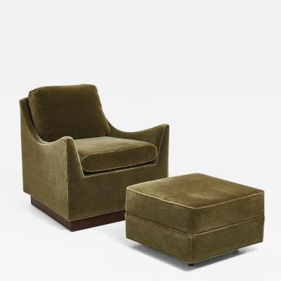 Thayer Coggin Milo Baughman Lounge Chair with Ottoman 1960 s