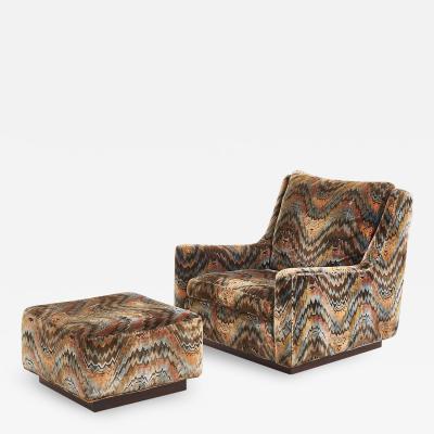 Thayer Coggin Milo Baughman Lounge Chair with Ottoman 1970