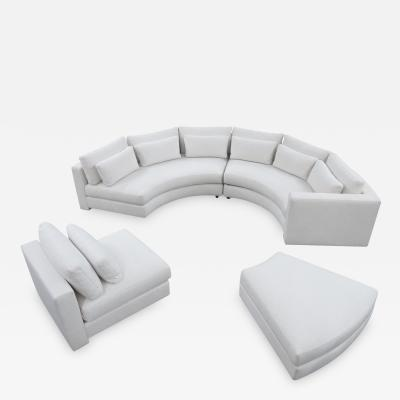 Thayer Coggin Thayer Coggin Round Sectional Sofa in Off White