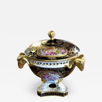 The Royal Crown Derby Porcelain Co 19th Century Derby Porcelain Lidded Centerpiece