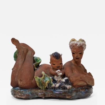 Thelma Frazier Winter Ceramic Sculpture by Thelma Frazier Winter USA 1950