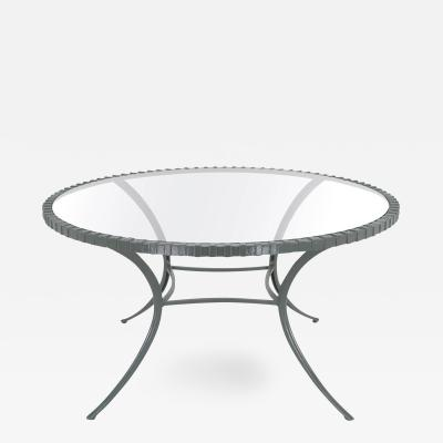 Thinline Incredible Round Klismos Leg Cast Aluminum Dining Table by Thinline