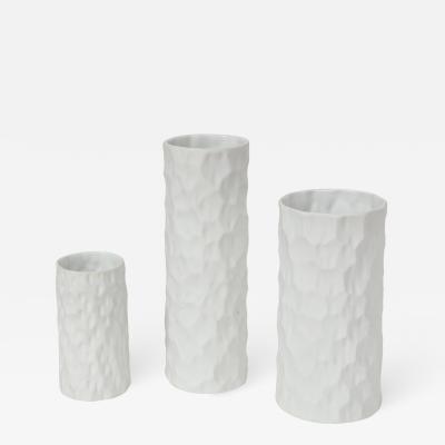Thomas Germany Trio of White Coral Vases