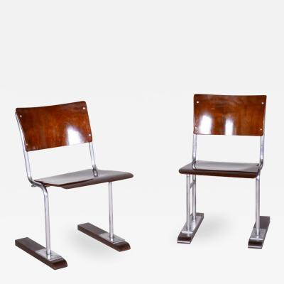 Thonet 20th century Bauhaus German Pair of folding chairs