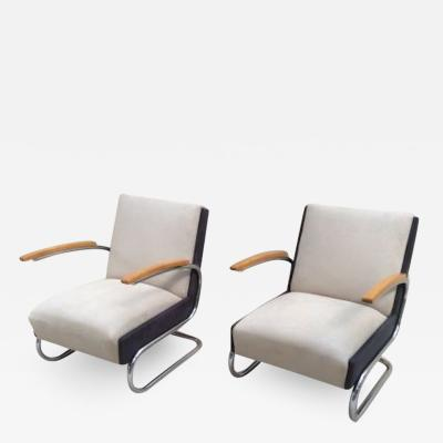 Thonet AWESOME BAUHAUS CANTILEVER PAIR OF CHAIRS