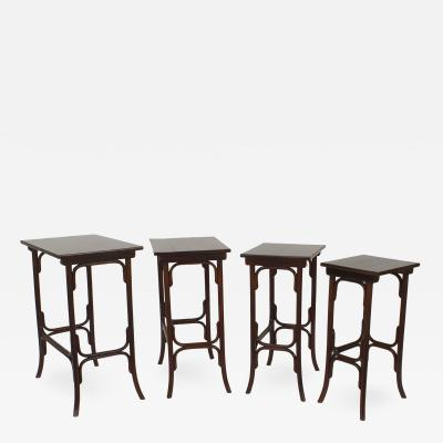 Thonet Austrian Bentwood Nest of Four Tables