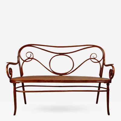 Thonet Gebruder Thonet Viennese Secessionist Bentwood Settee Designed by August Thonet