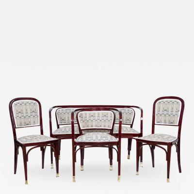 Thonet Gustav Siegel Viennese Bentwood Suite for Thonet 1899